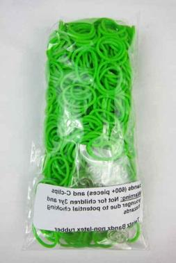 Twistz Bandz Latex Free Rubber Band Refill + C-clips - Lime