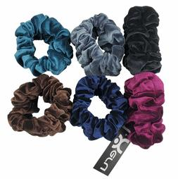6 PCS Velvet Scrunchies Color Assorted Hair Holder Double Ru