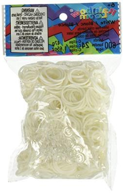 Rainbow Loom Official White Rubber Bands Refill 600 count +