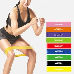 Yoga Resistance Bands Fitness Rubber Loop Pilates Training W